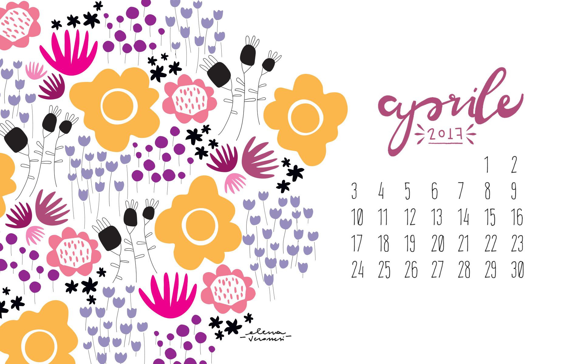 Desktop Calendar: benvenuto aprile!