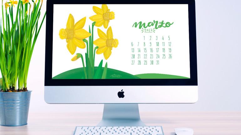 Desktop calendar: è arrivato marzo!
