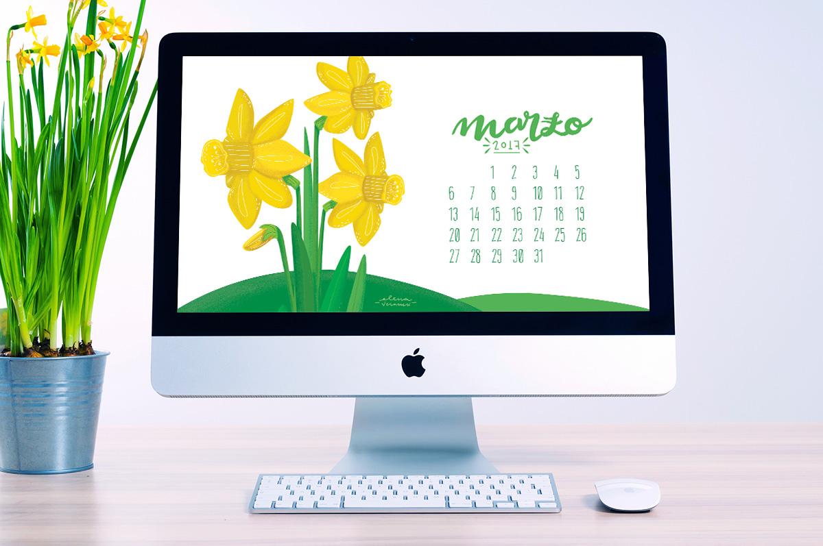 Desktop calendar marzo