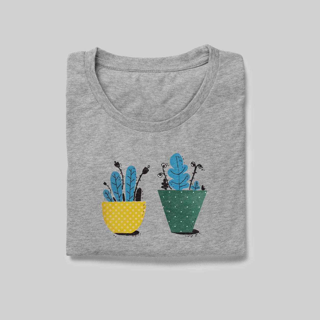 T-shirt-vasi-di-fiori-pattern
