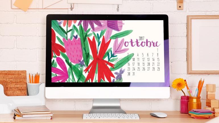 Arriva ottobre! Ecco il nuovo desktop calendar!