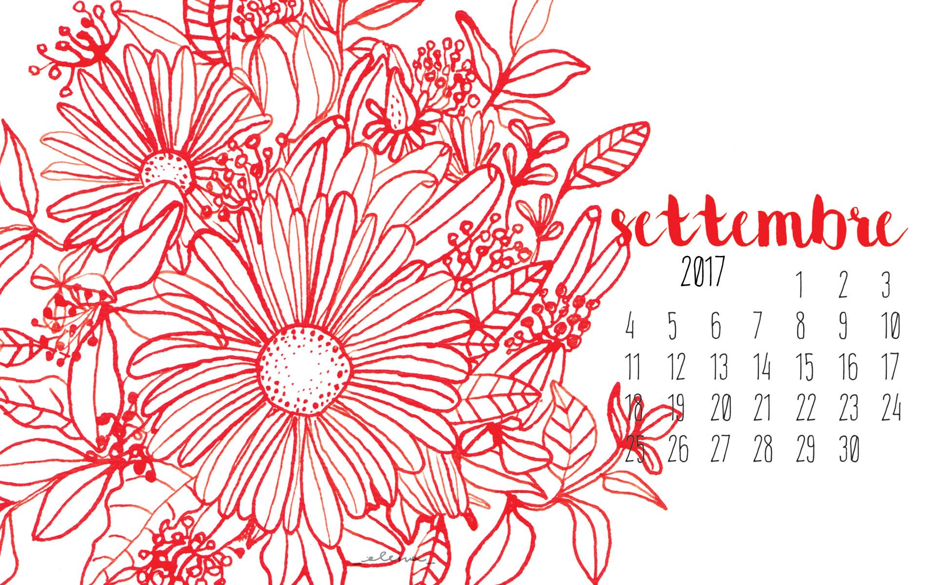 Fiori e inchiostro: il desktop calendar di settembre!