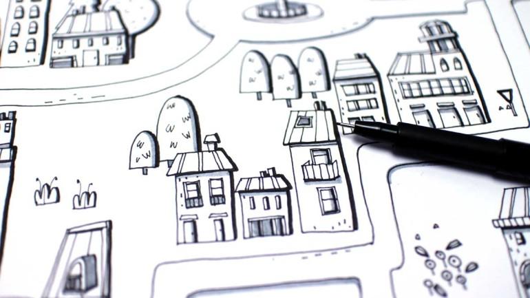 Creatività con i piccoli: mappe stradali tutte da giocare!
