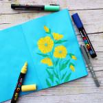 Yellow Flowers - Sketchbook di Elena Veronesi