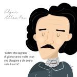 Edgar Allan Poe (illustrazione di Elena Veronesi)